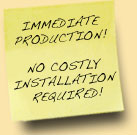 No Costly installation required.